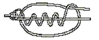 Подсунутый удавочный узел